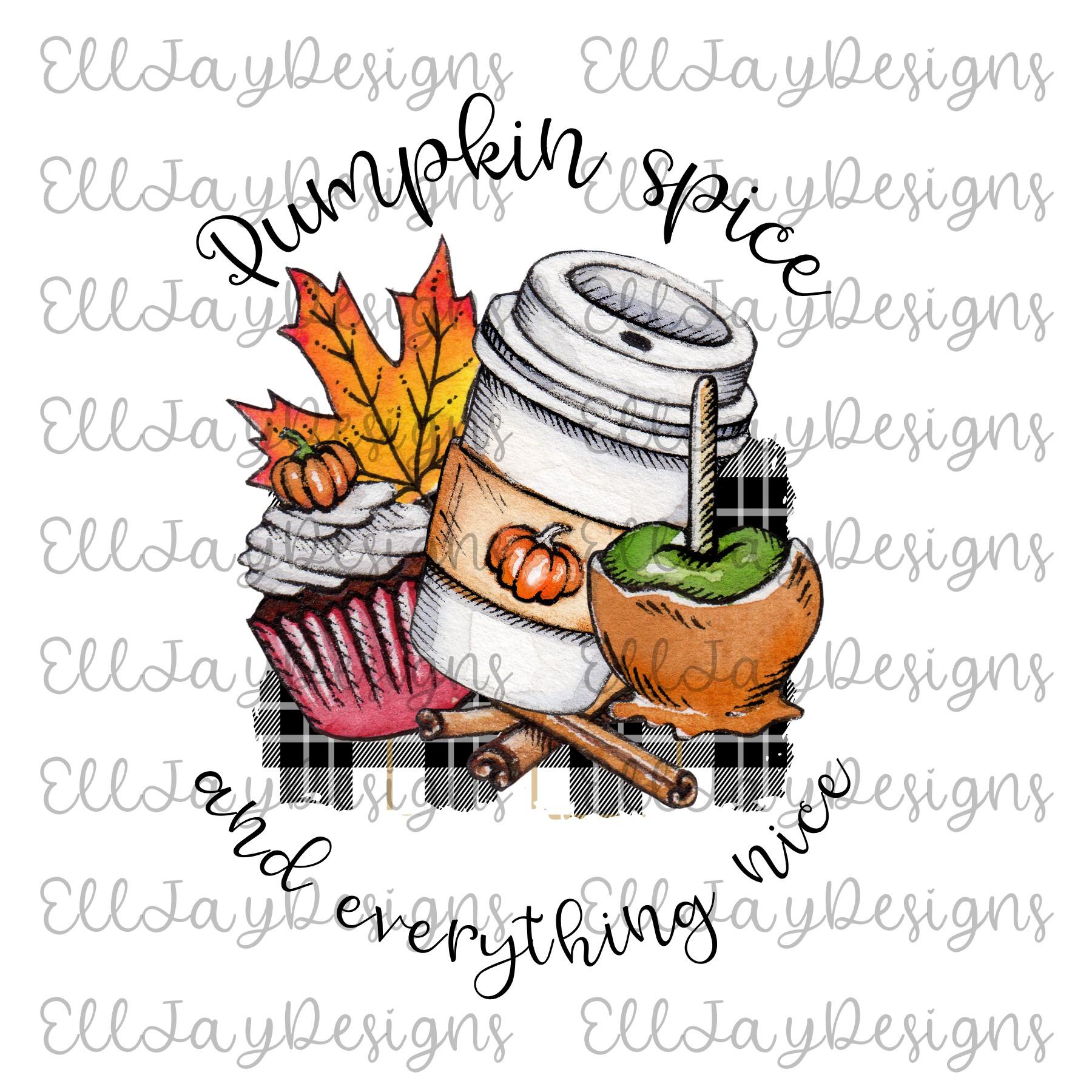6 Plaid Pumpkin Sublimation Designs example image 7