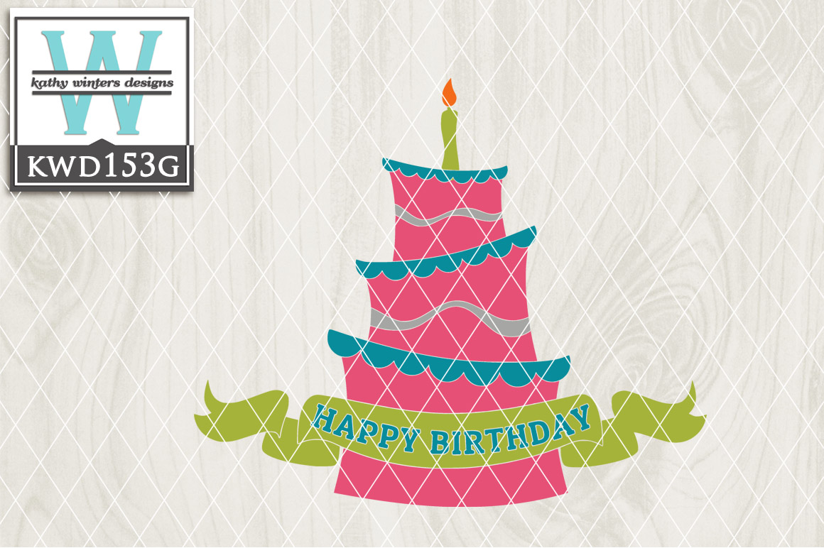 Birthday Cutting File KWD153G example image 1