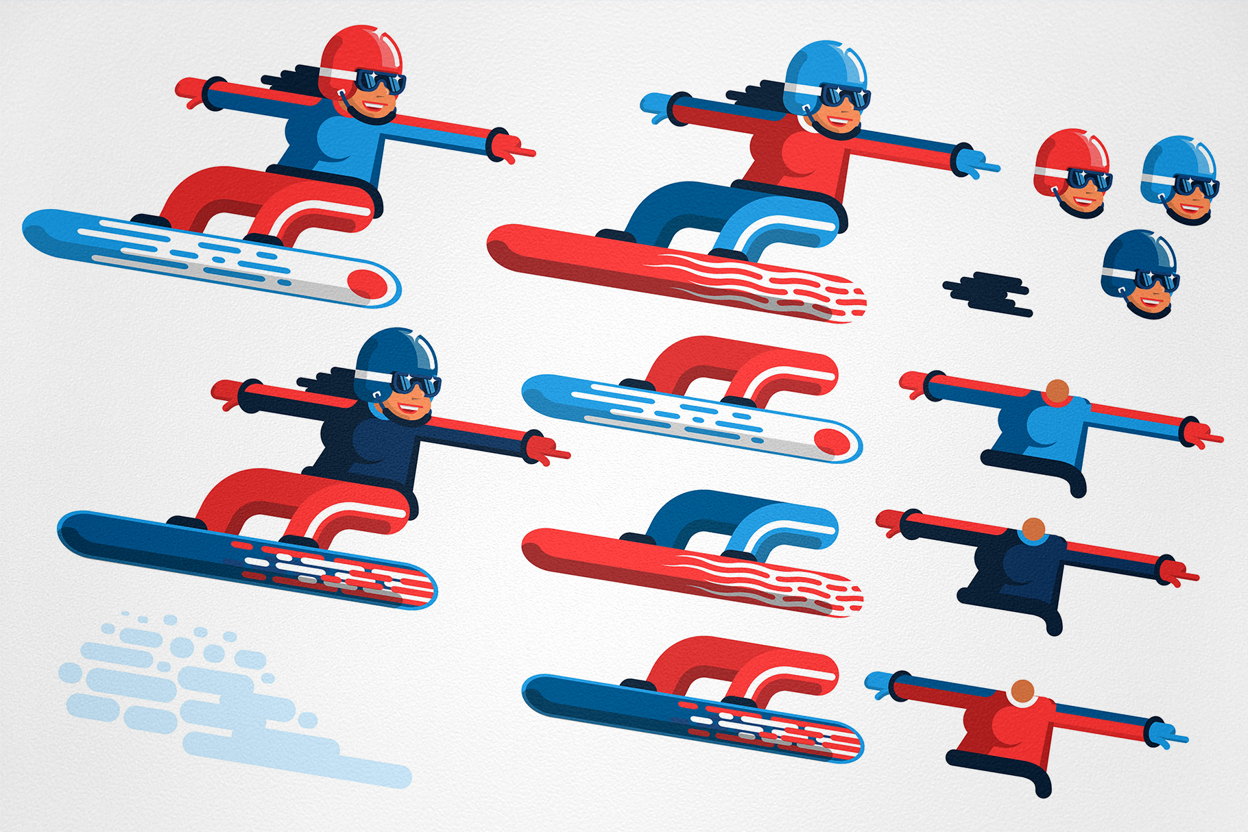 Snowboarding People example image 3
