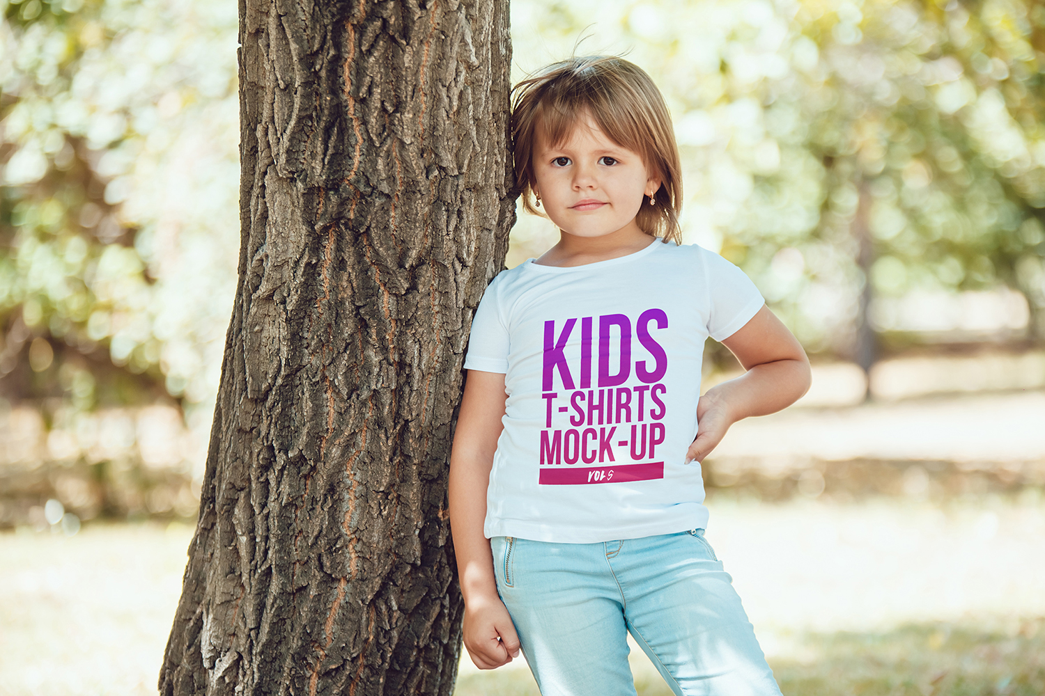 Kids T-Shirt Mock-Up Vol 5 example image 5
