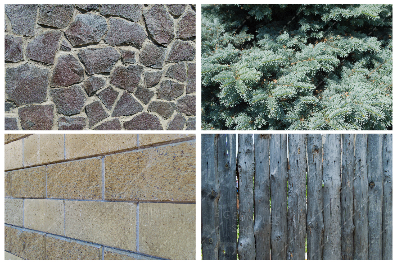 Bricks, fence and greenery example image 5