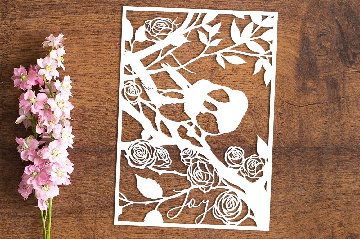 Joy - Paper Cutting Template example image 1