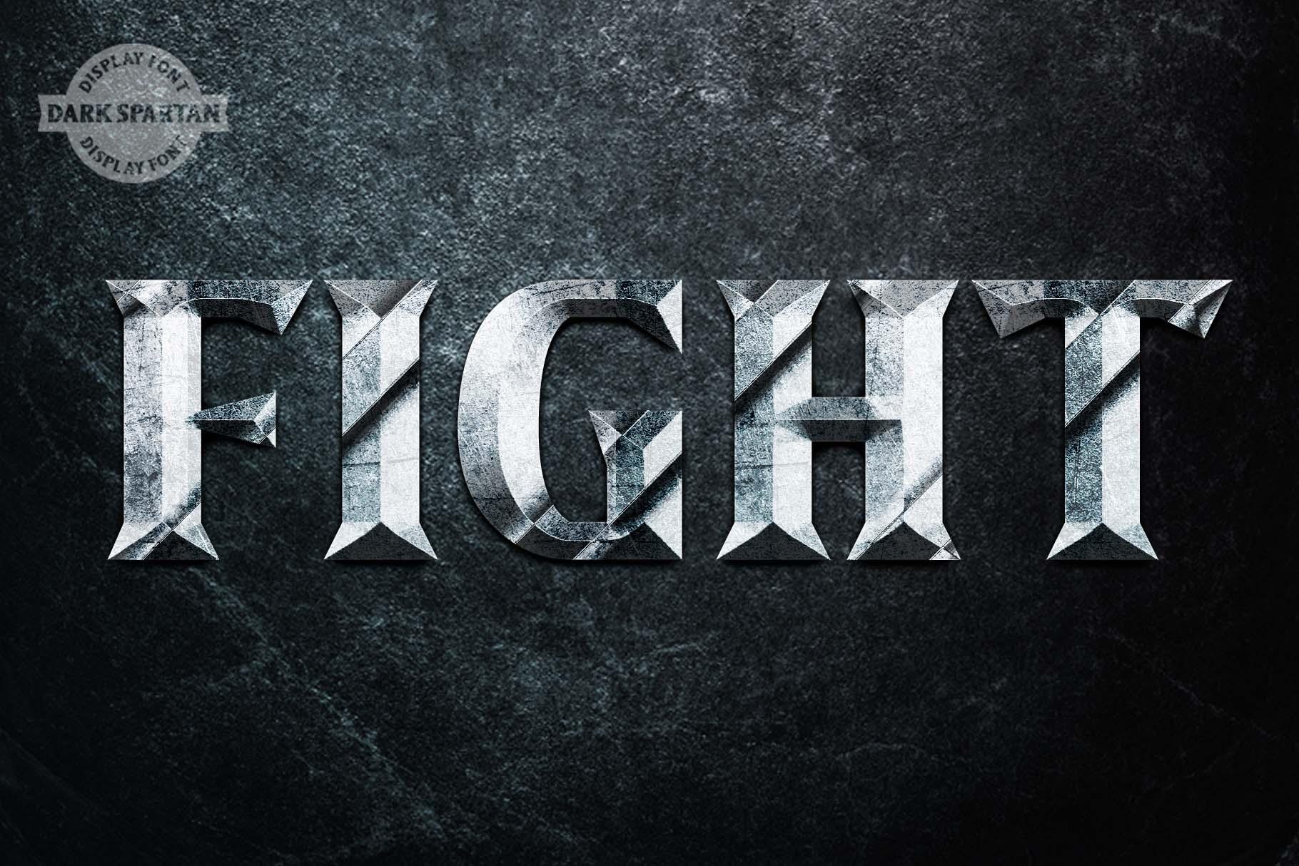 Dark Spartan Display Font example image 4