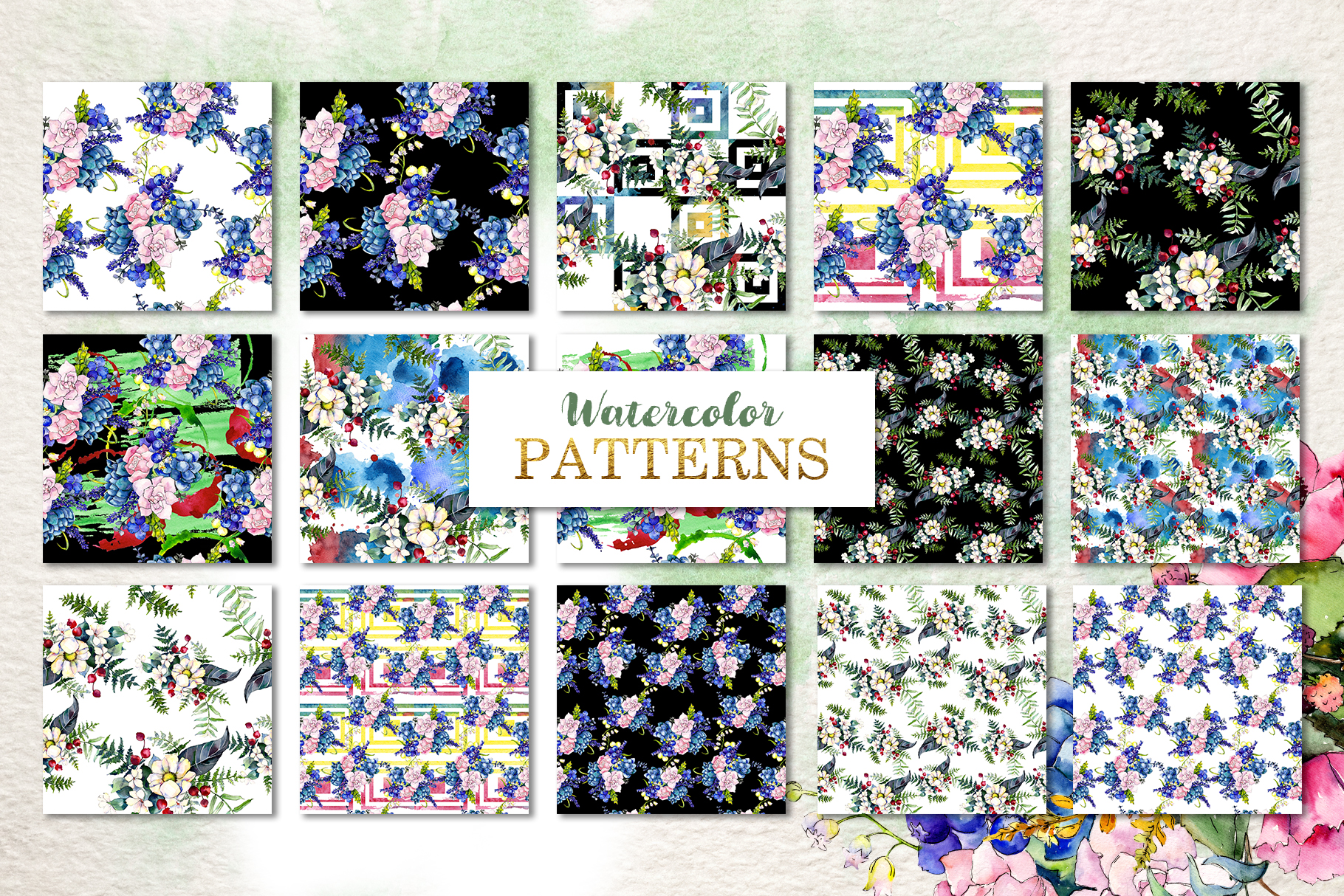 Gorgeous Flower Bouquets Watercolor png example image 4