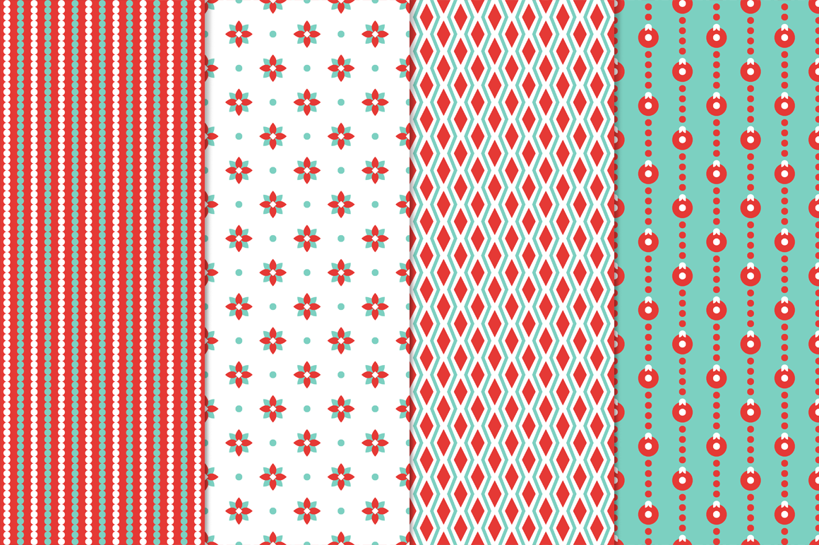 27 Christmas Seamless Patterns example image 5