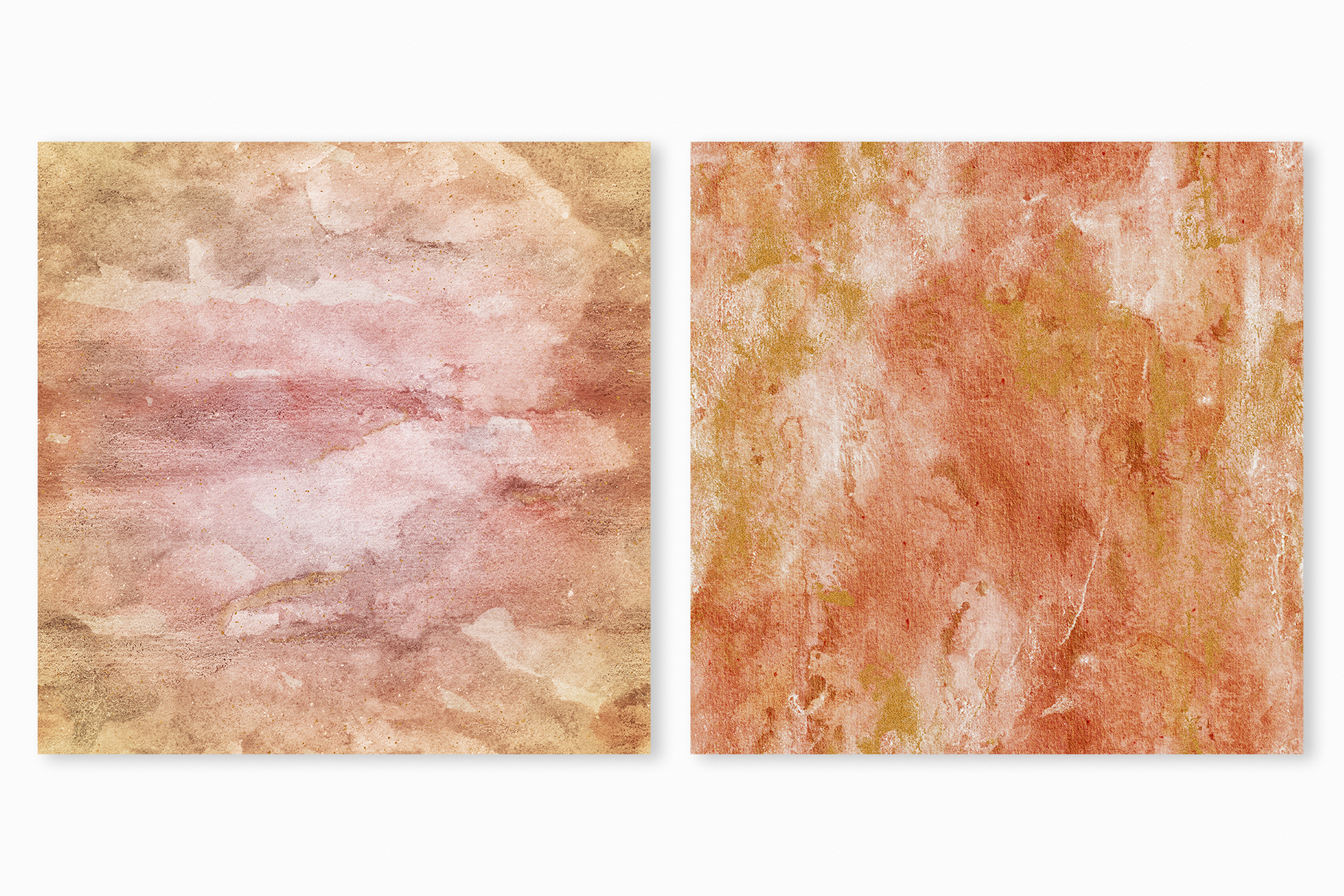 20 Seamless Watercolor Textures - Burnt Orange Backgrounds example image 19
