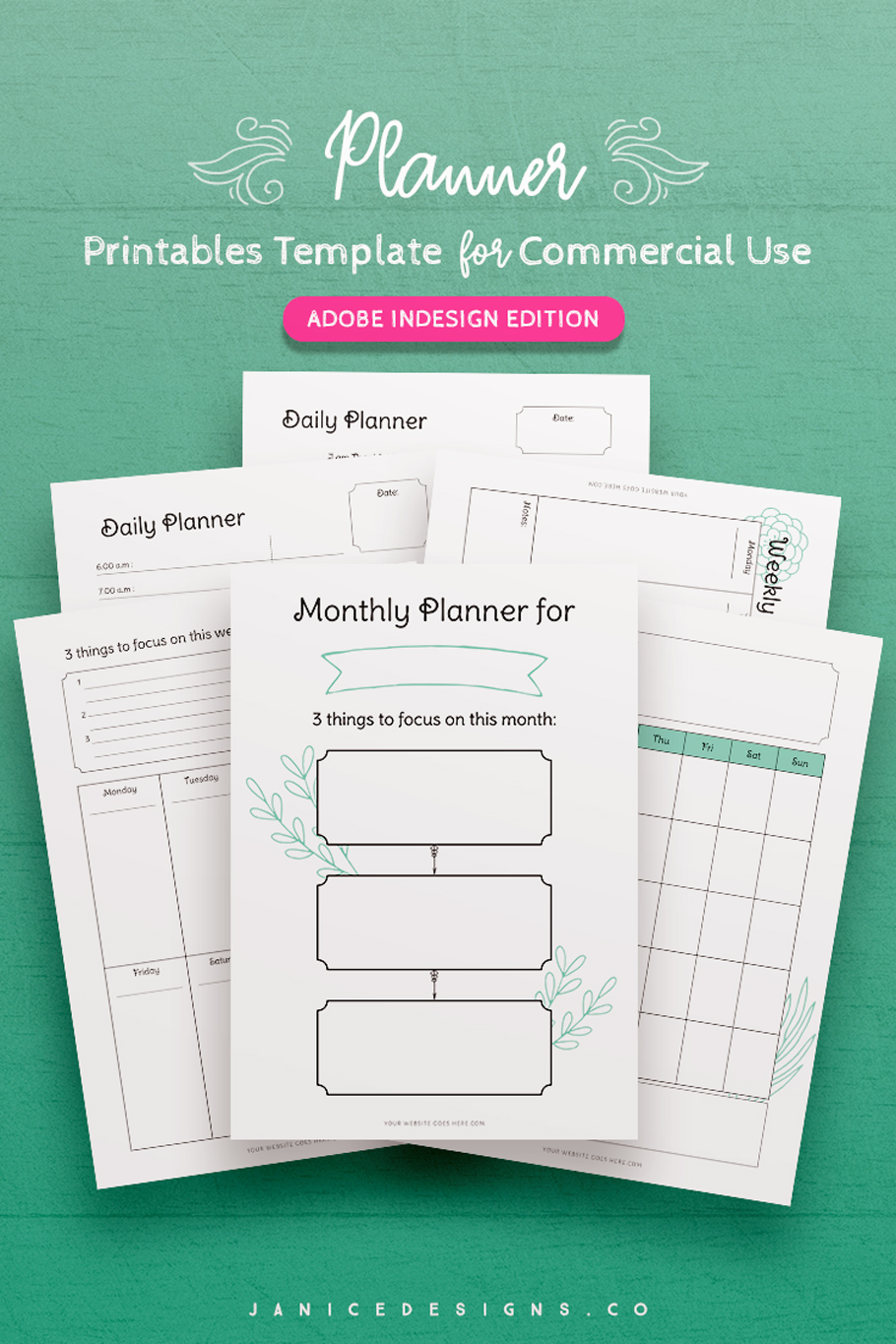 7-in-1 Bundle InDesign Templates for Commercial Use example image 6