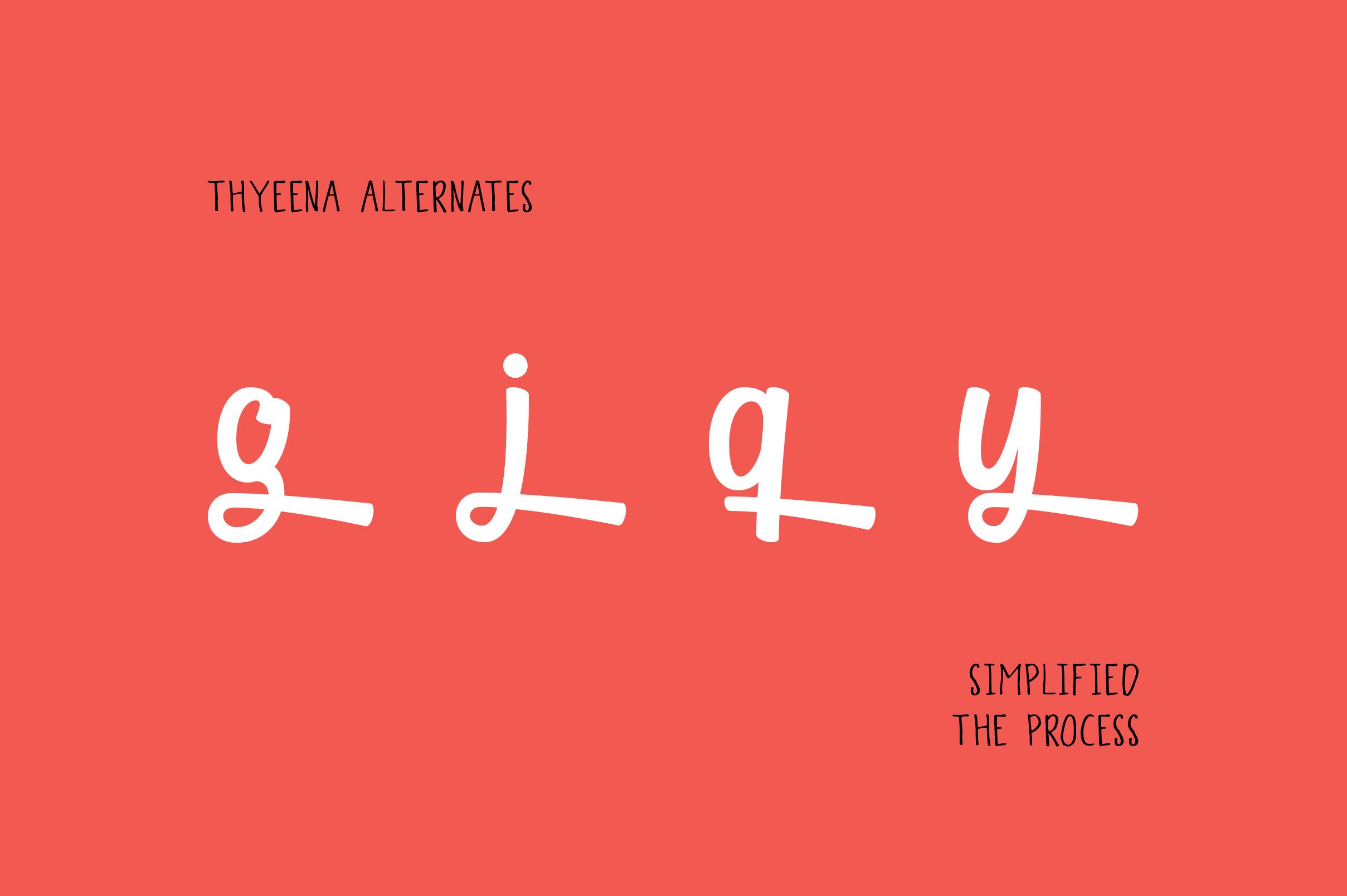 Thyeena Fonts & Illustration example image 12
