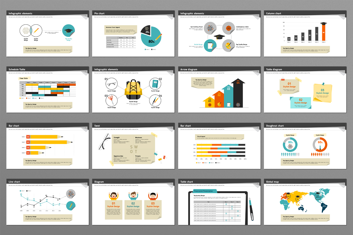 School Supplies PPT example image 2