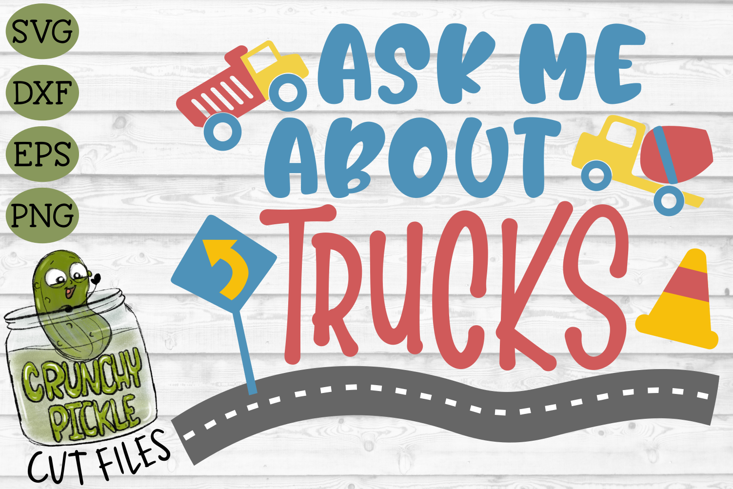Ask Me About Trucks SVG example image 2