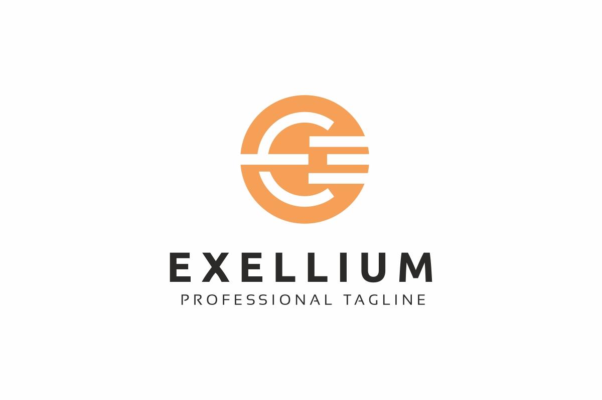 Exellium E Letter Logo example image 1