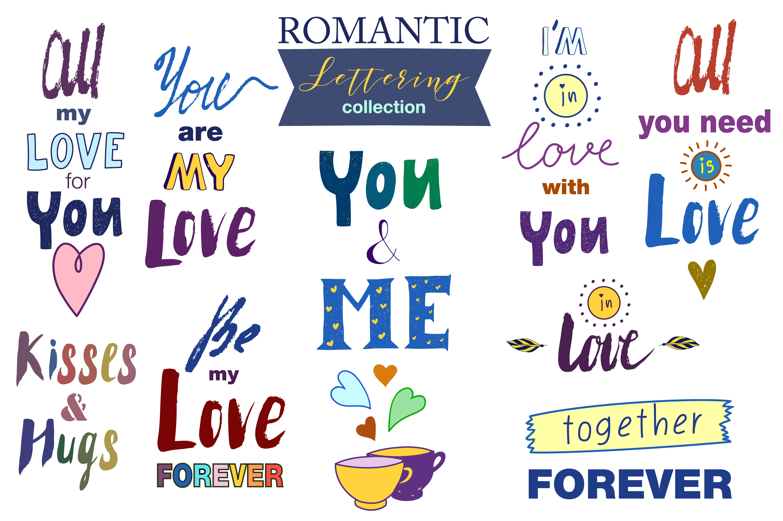 Hand drawn Romantic design kit example image 2