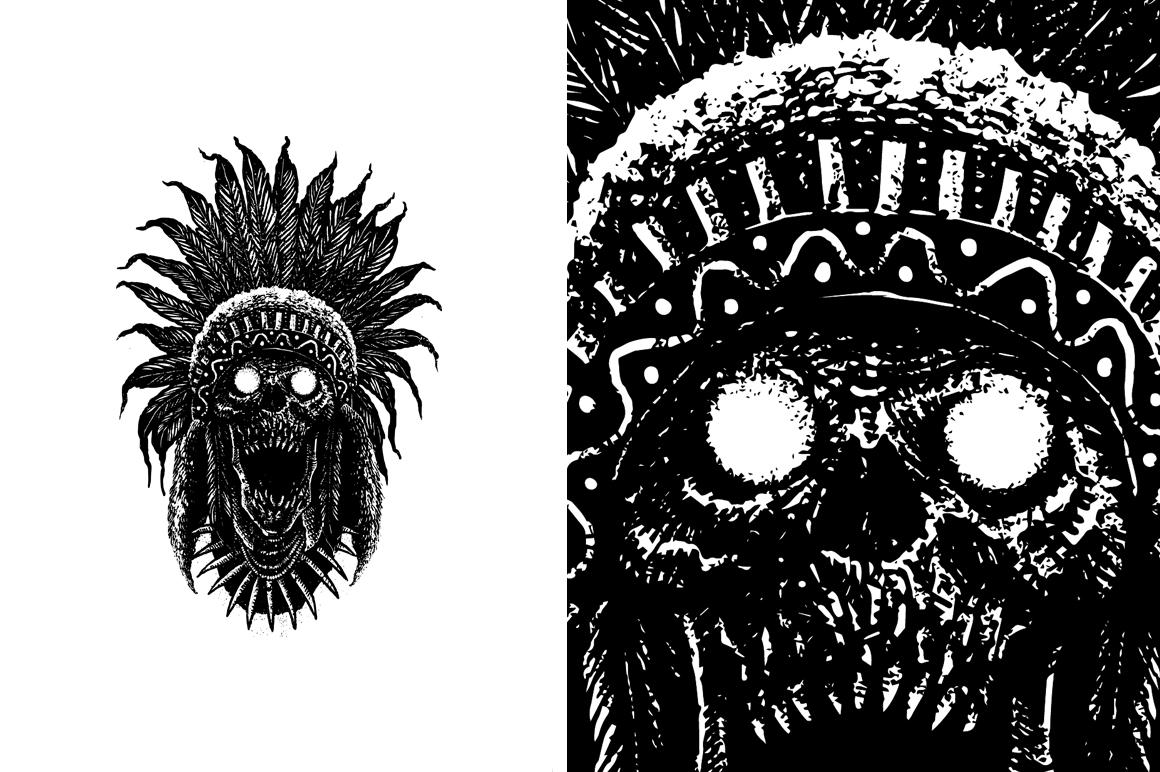 20 VECTOR skull illustration example image 18