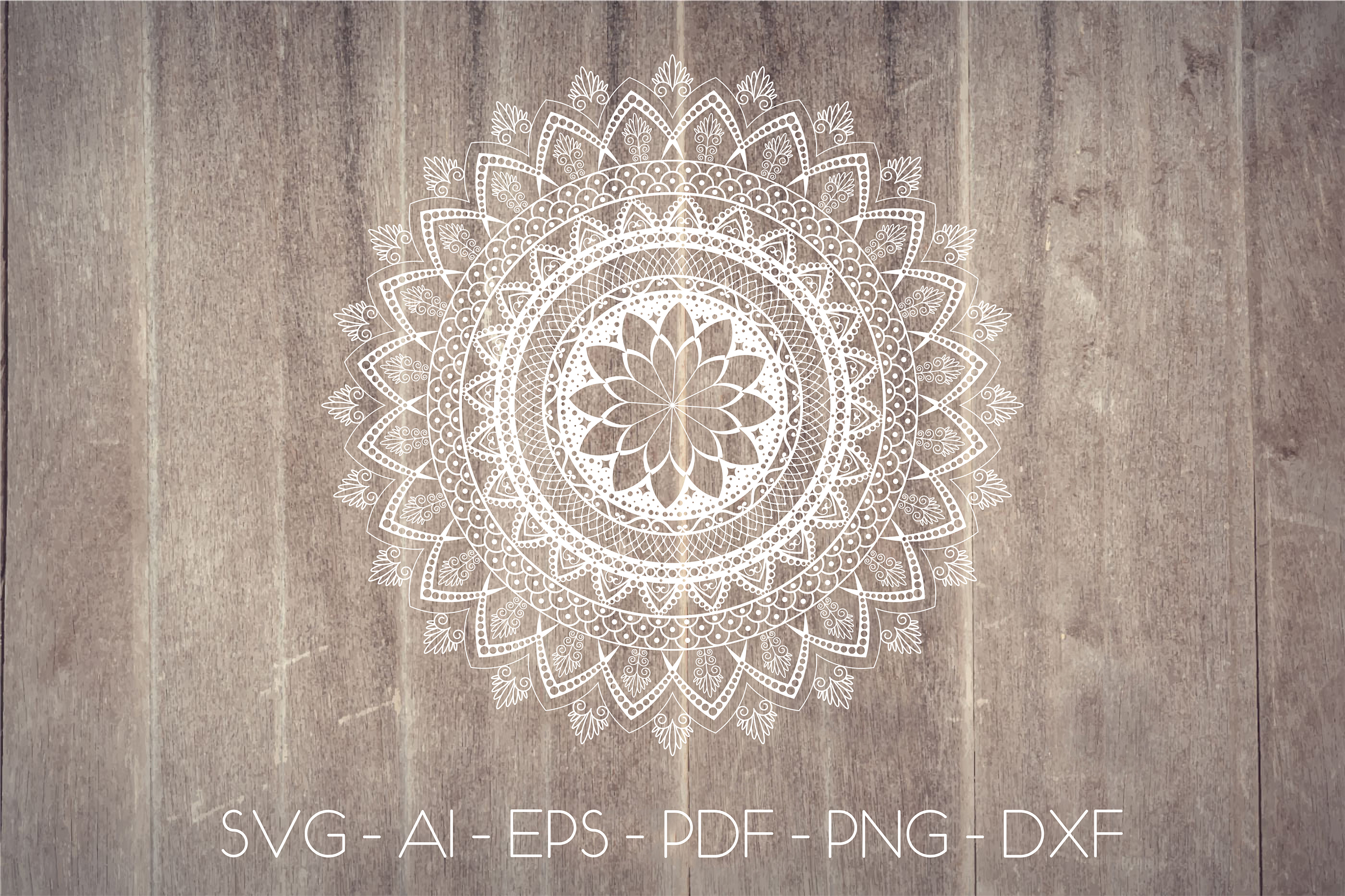 Mandala svg Circle file | Mandala clip art example image 1