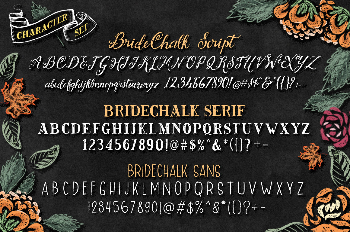 BrideChalk Typeface example image 5