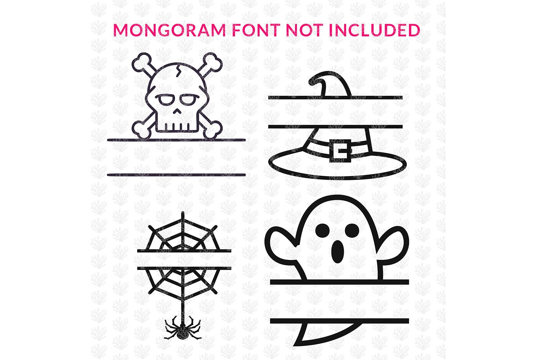 Big SVG Bundle - 31 Halloween Monogram Frame SVG EPS DXF PNG example image 7