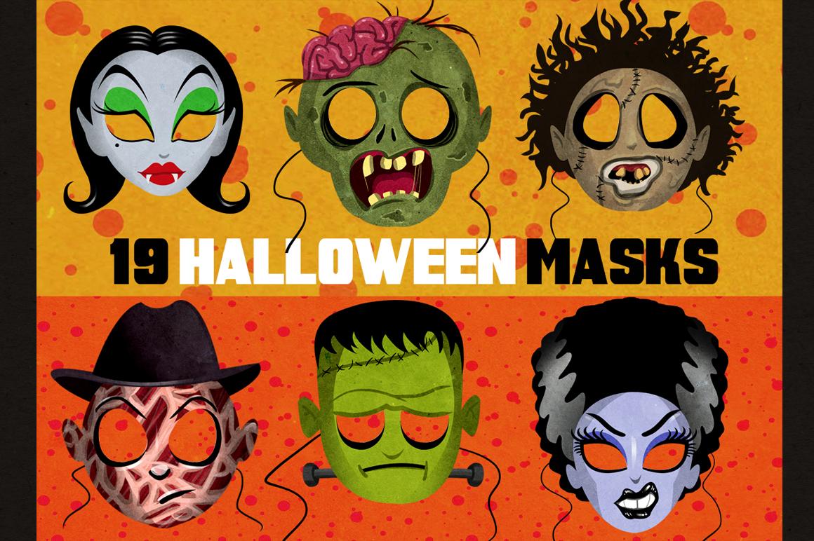 19 Classic Halloween Masks example image 1