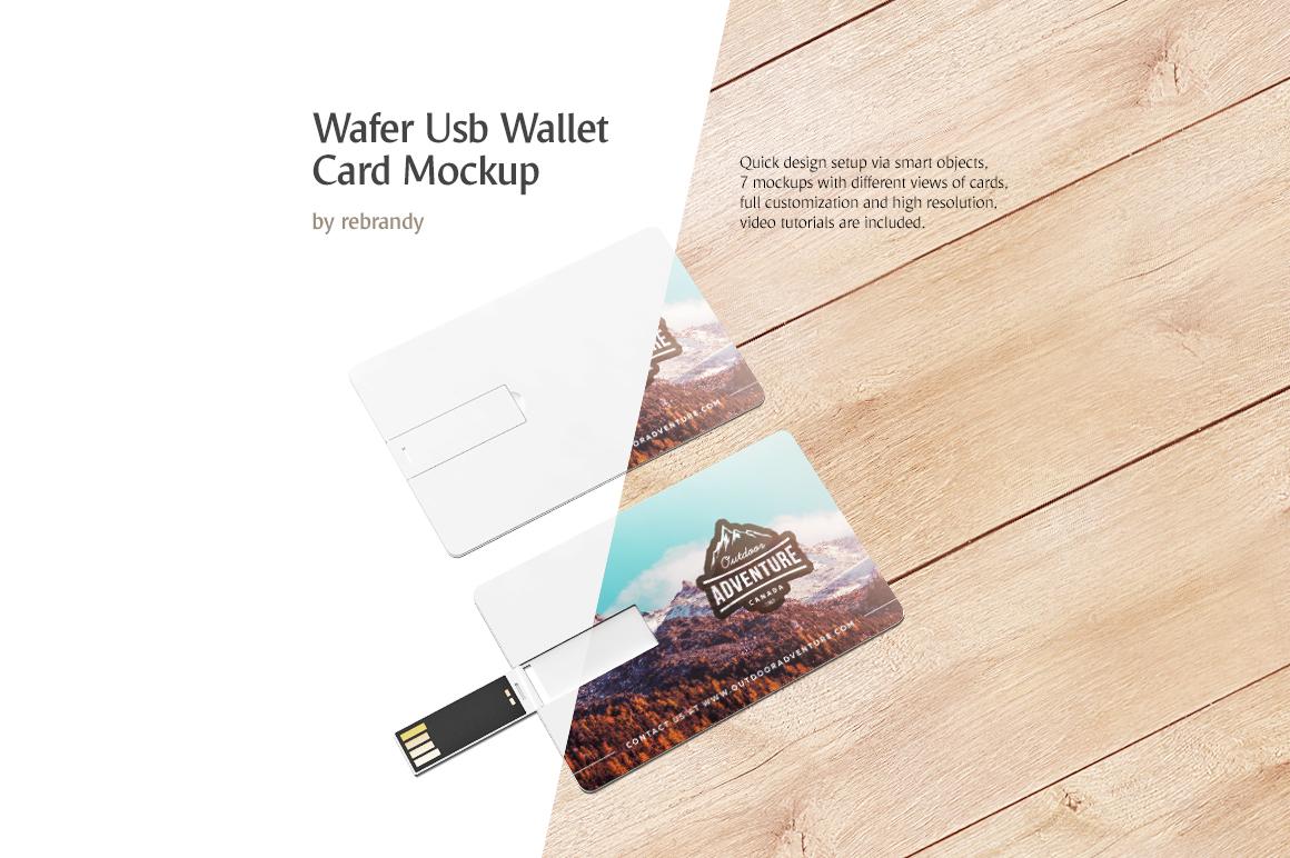 Wafer USB Wallet Card Mockup example image 1