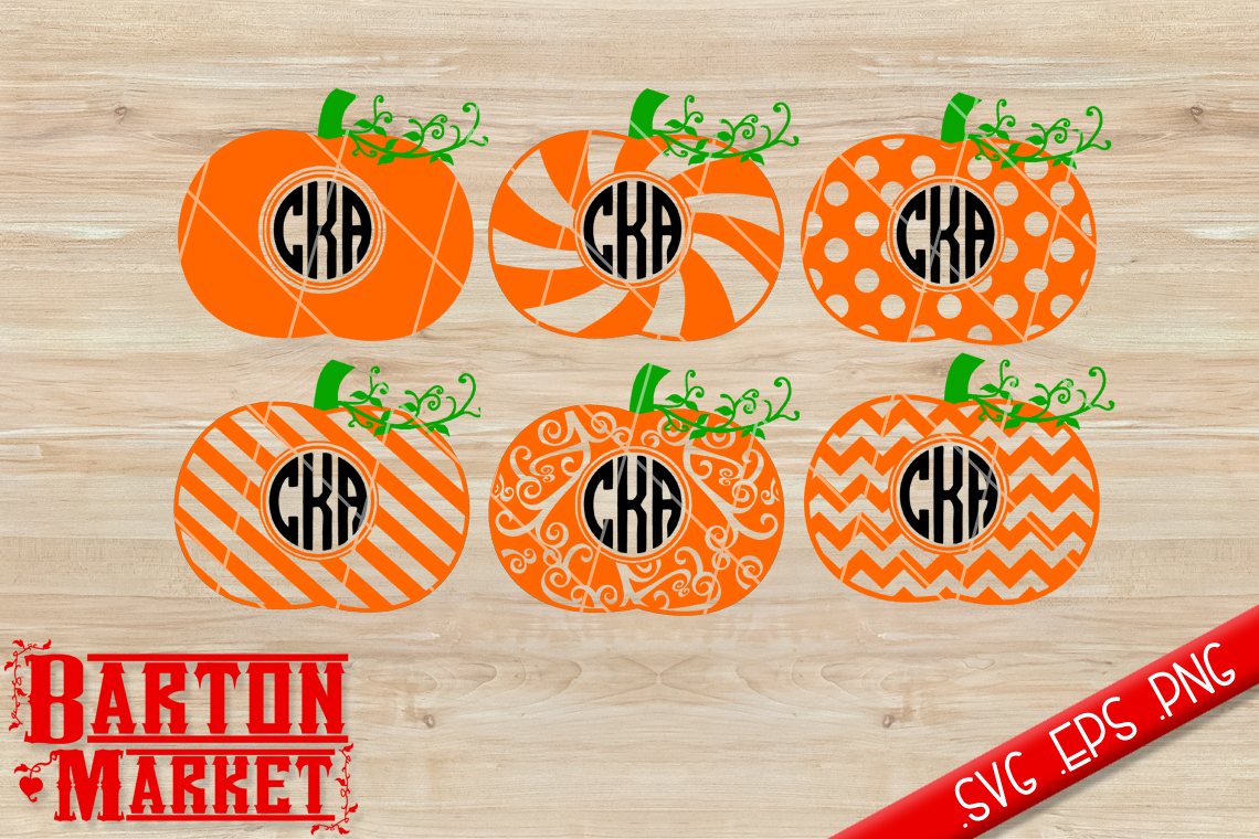 Pumpkin Monogram SVG / EPS / PNG example image 1