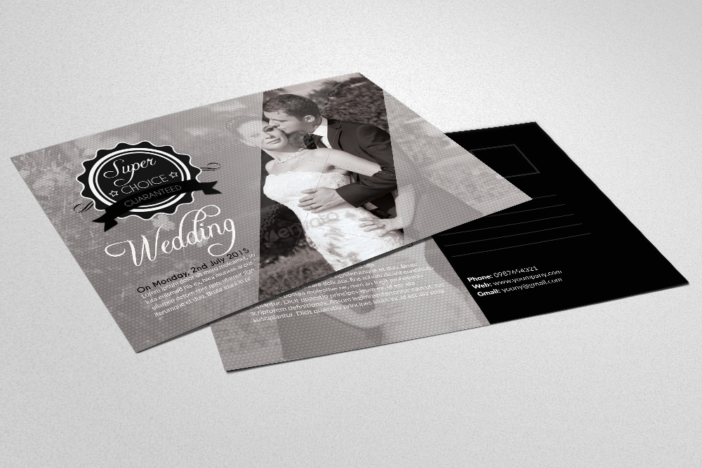 Wedding Invitation Postcards example image 1