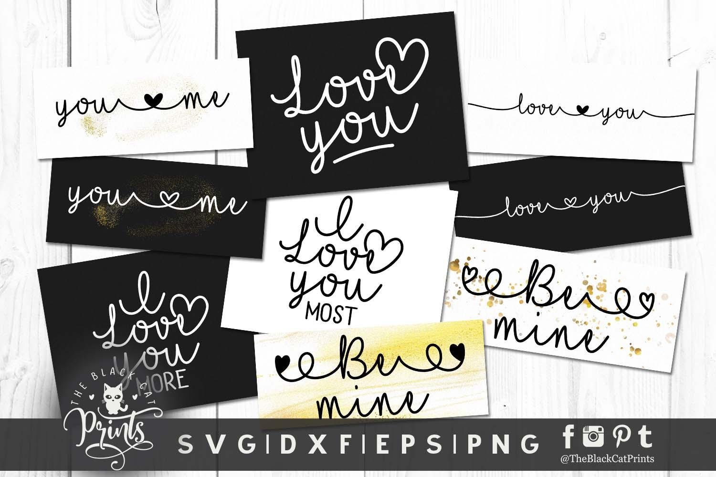 Mini Valentines bundle SVG DXF EPS PNG example image 3