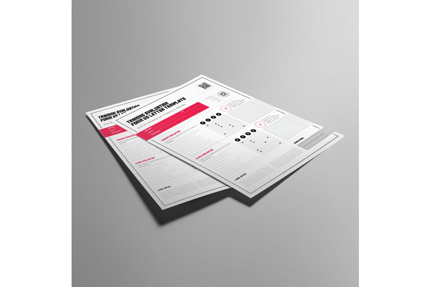 Training Evaluation Form US Letter Template example image 3