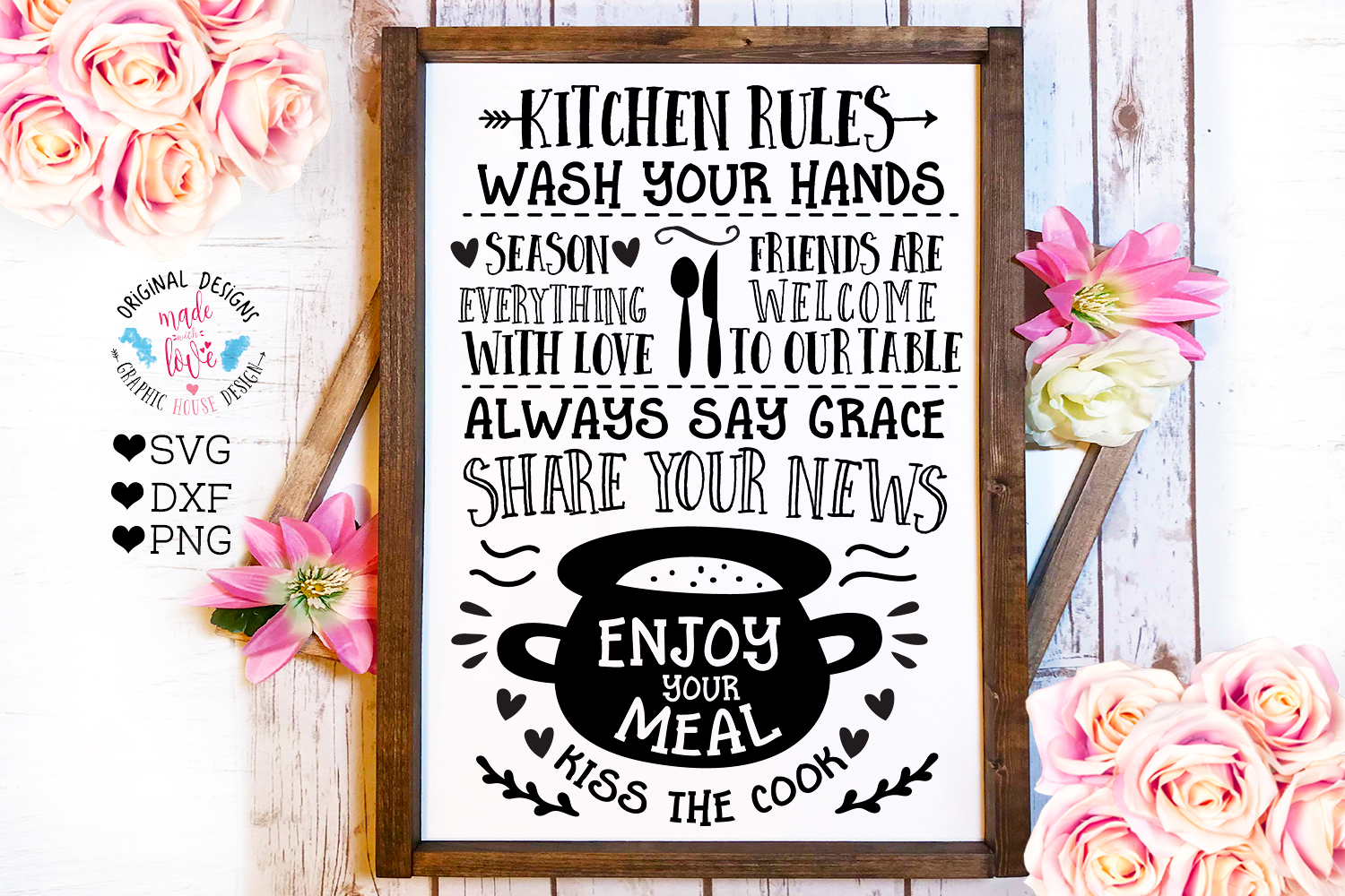 Home and Summer Decor Rules Cut File Bundle example image 6