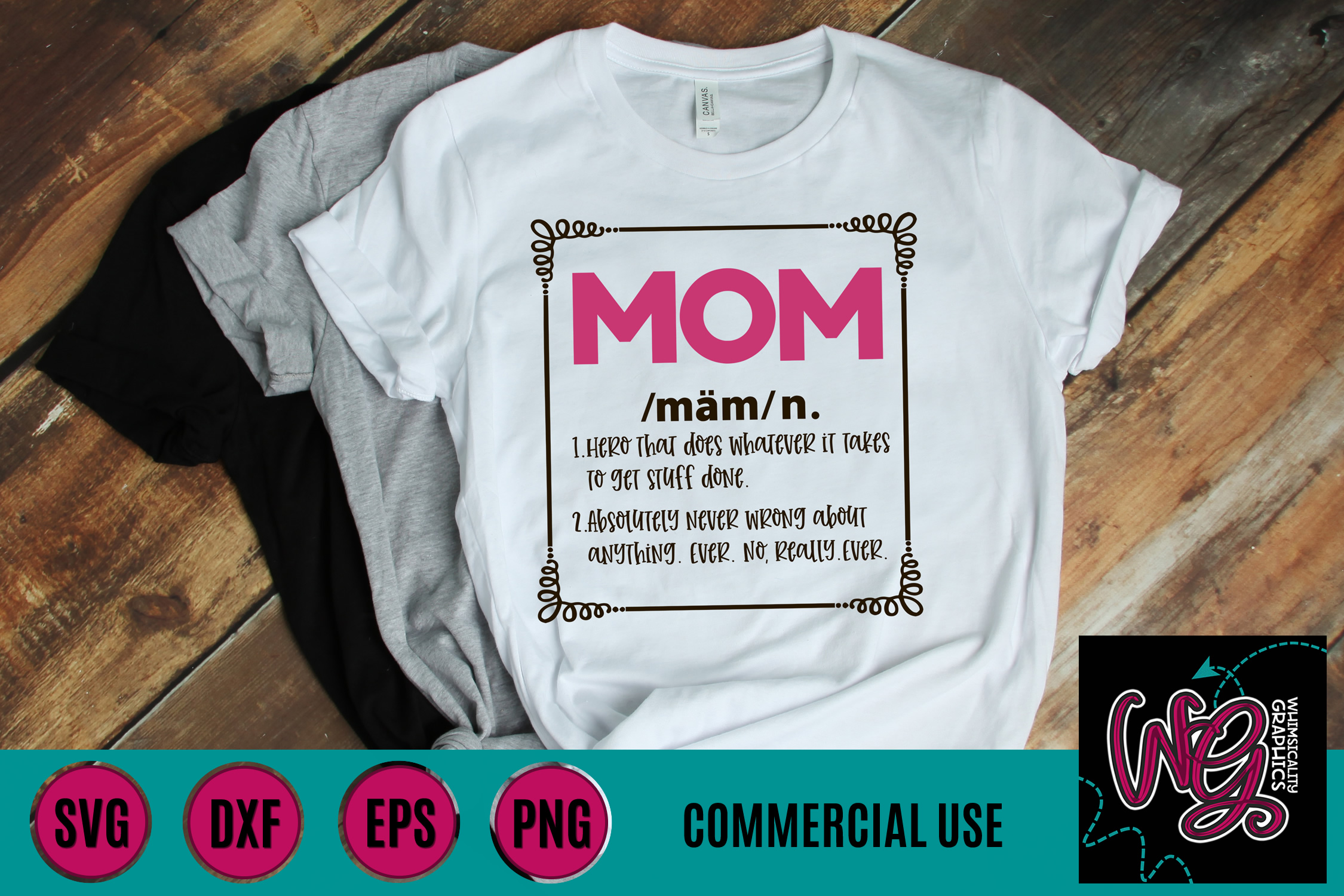 Definition of Mom SVG DXF PNG EPS Commercial example image 1