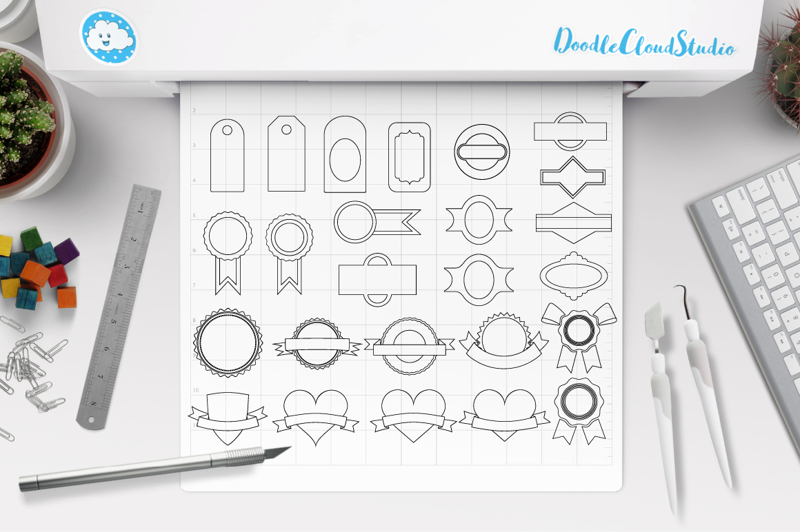 Labels SVG, Price Tag Label svg files for Silhouette Cameo and Cricut. Label clipart PNG included, clipart PNG transparent example image 2