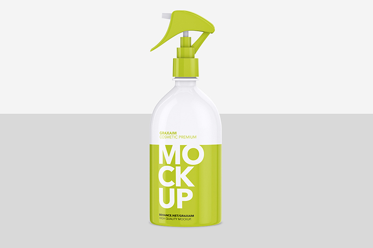 Cosmetic Pump Spray Bottle 500ml - Mockup example image 2