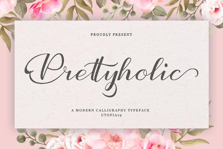 Prettyholic |Script Typeface example image 11