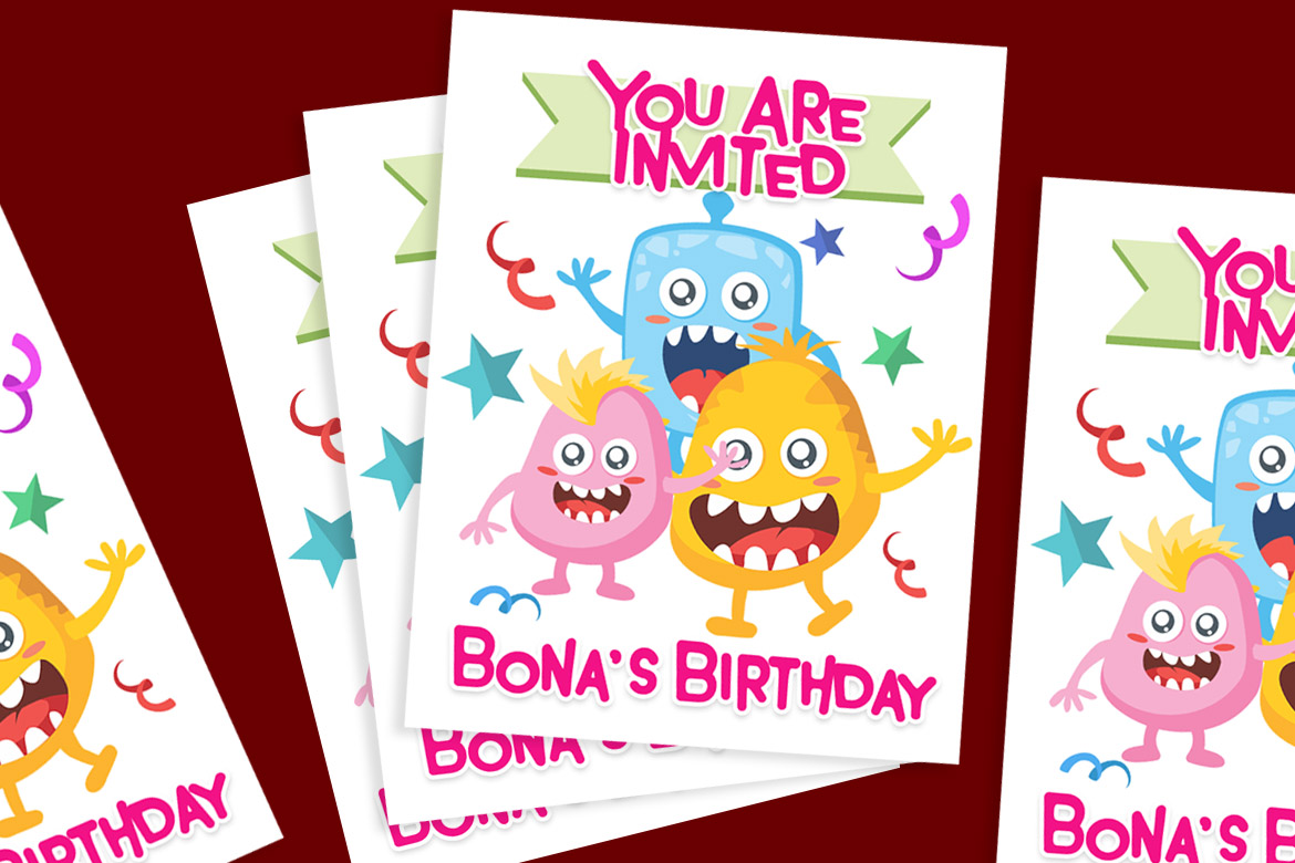 Monster World Font Family & Fun Vector Pack example image 4