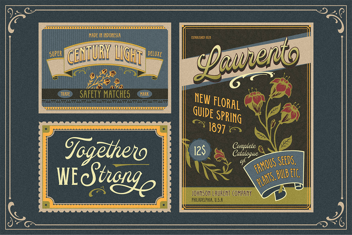 Oldy Beany Font Duo with Extras example image 2
