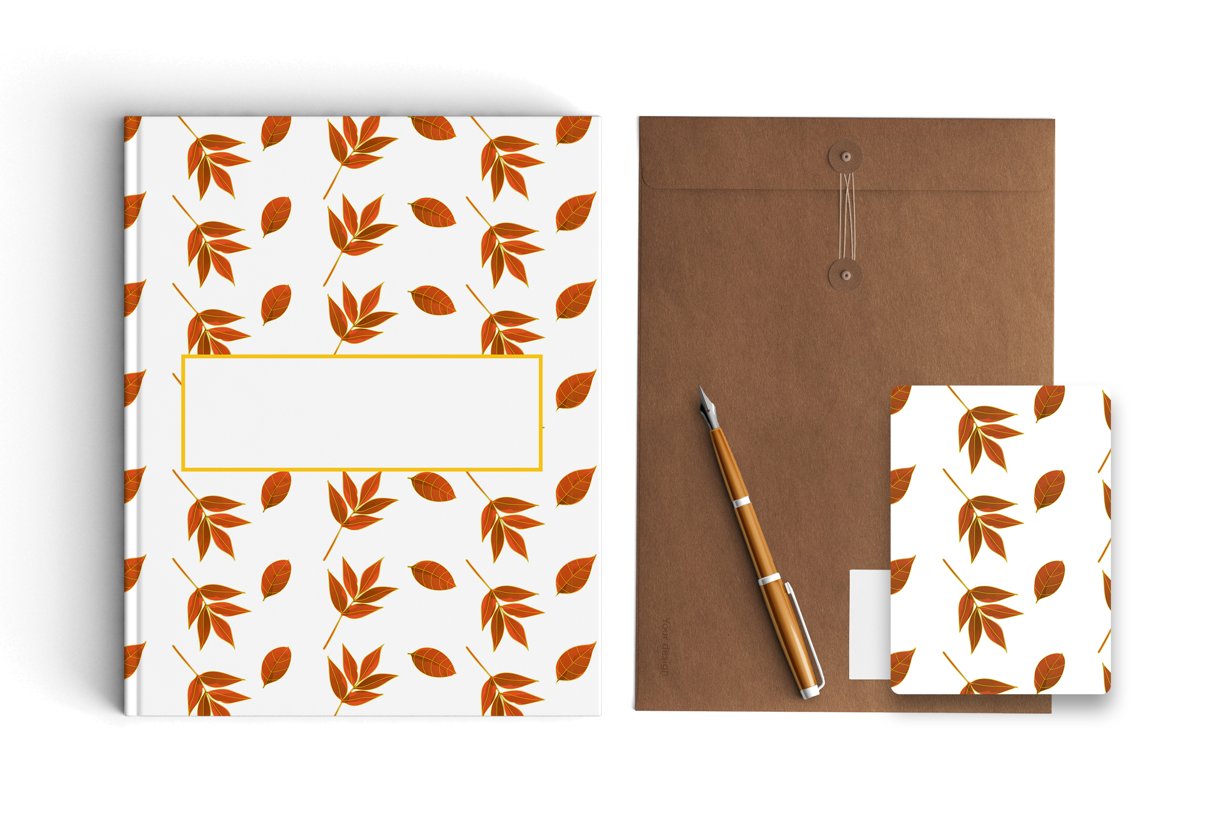 Autumn watercolor leaves pattern, seamless. example image 3