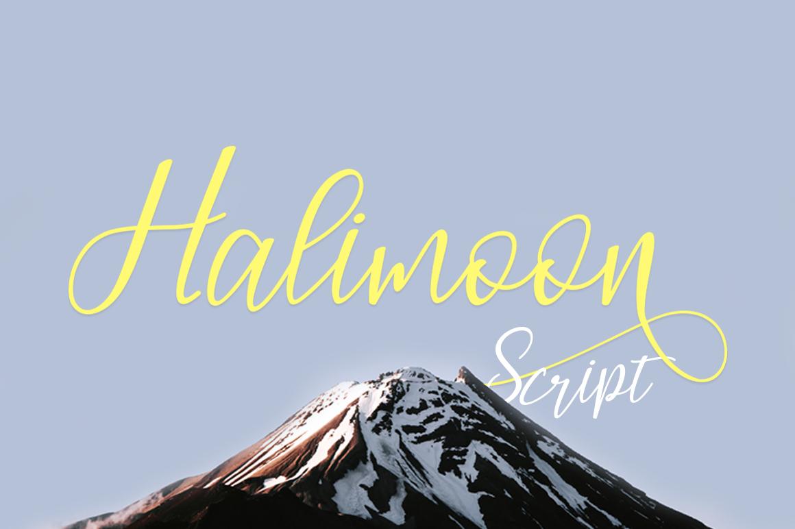 Halimoon Script example image 2