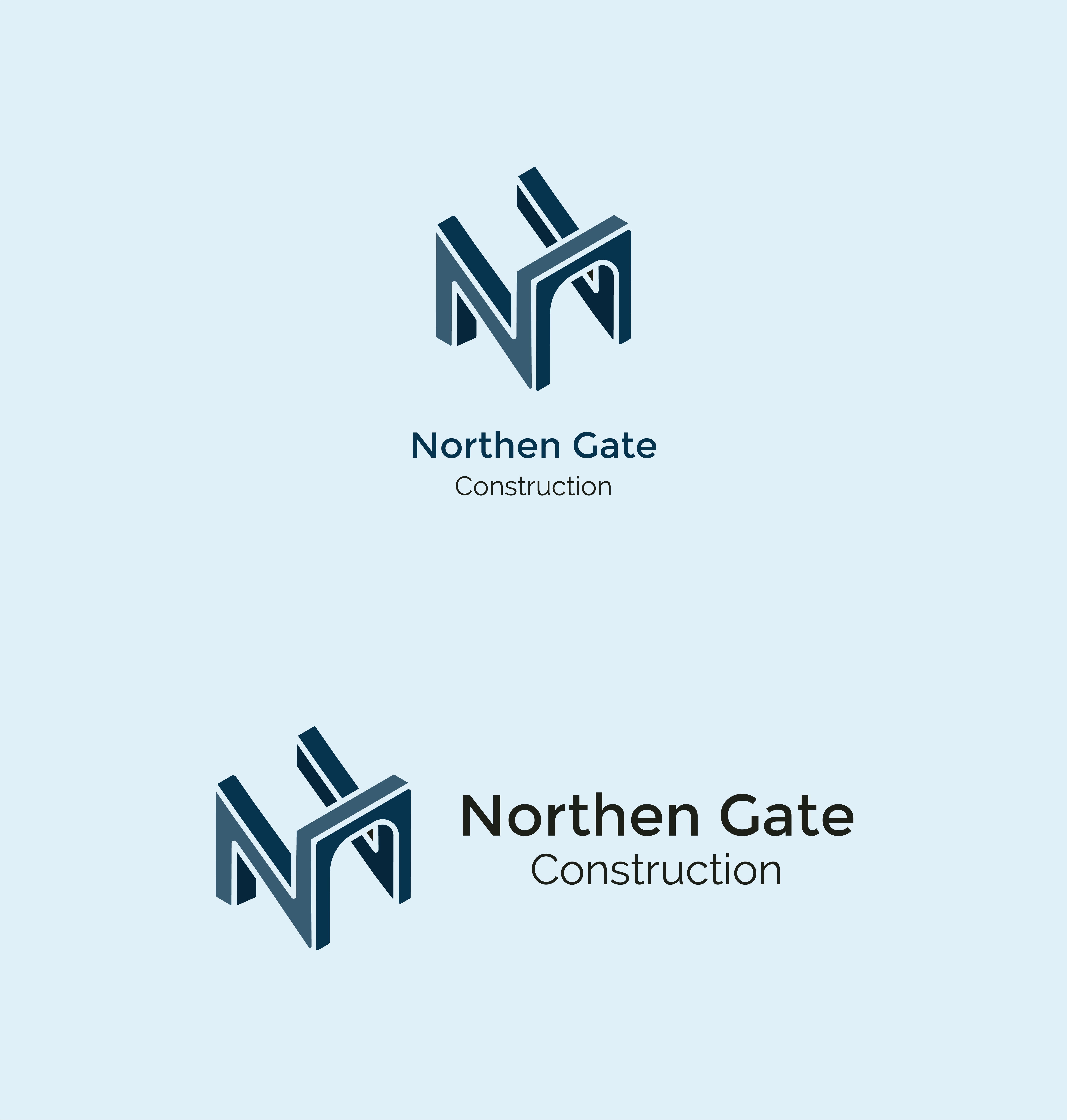Letter N - Construction Gate Bridge Logo Logo Template example image 2