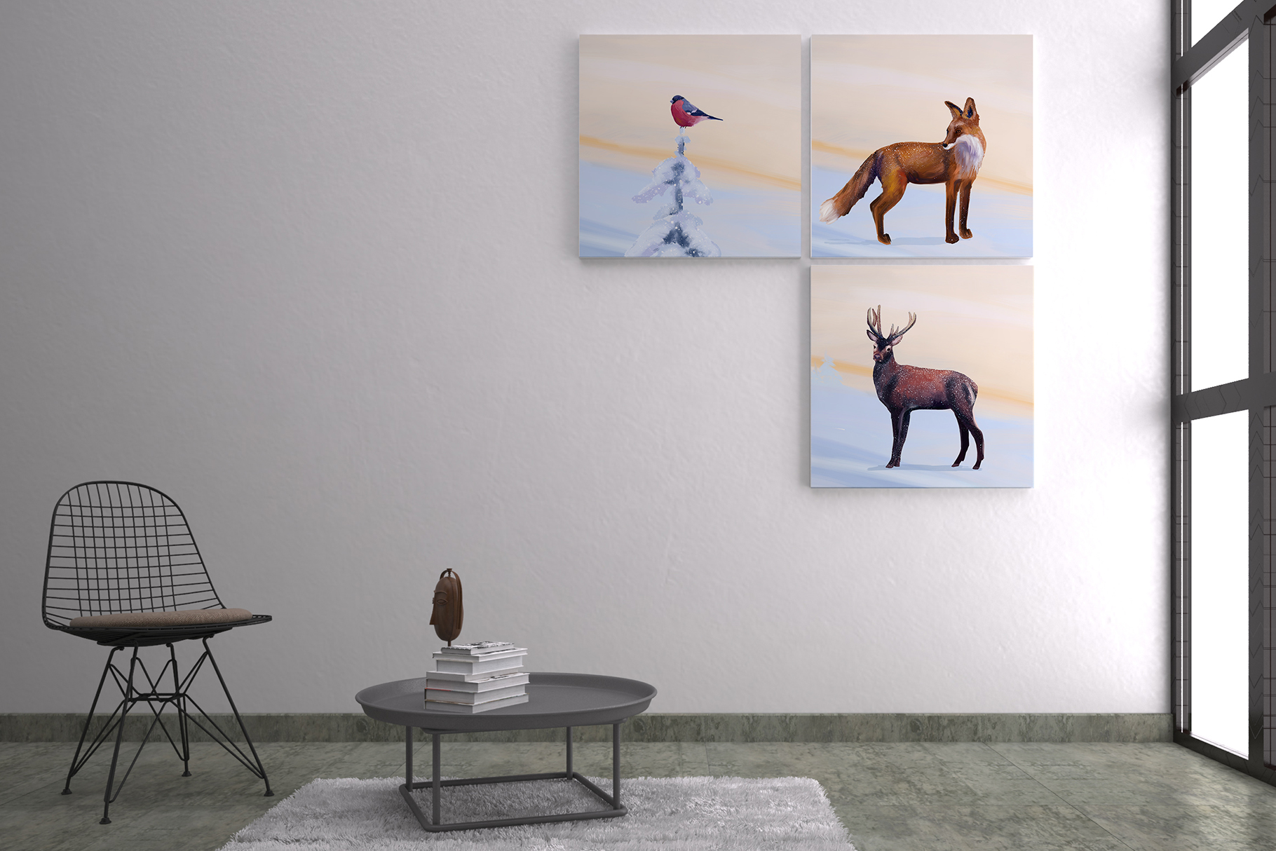 Realistic animals in the forest example image 7