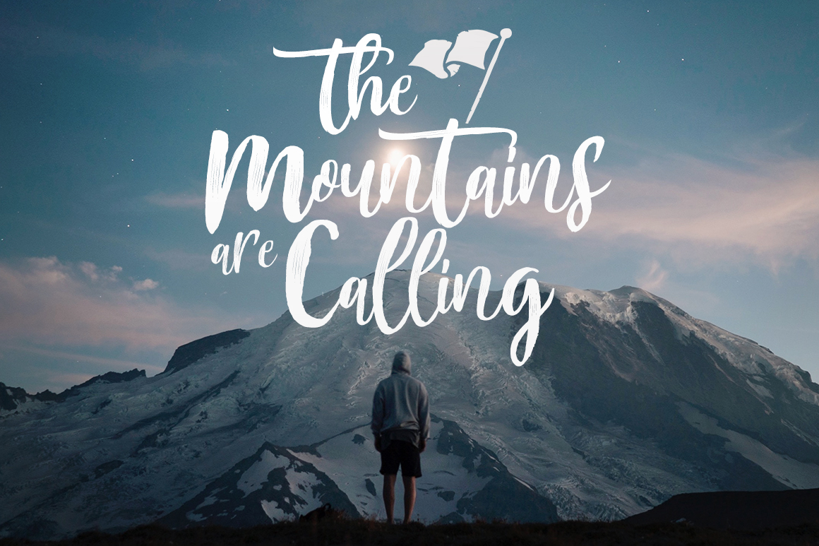 Mountain Script - Brush Fonts example image 2