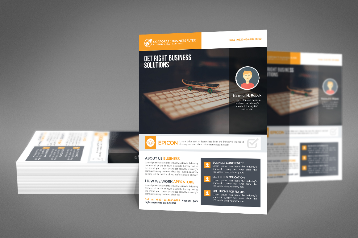 Professional Corporate Business Flyer example image 2