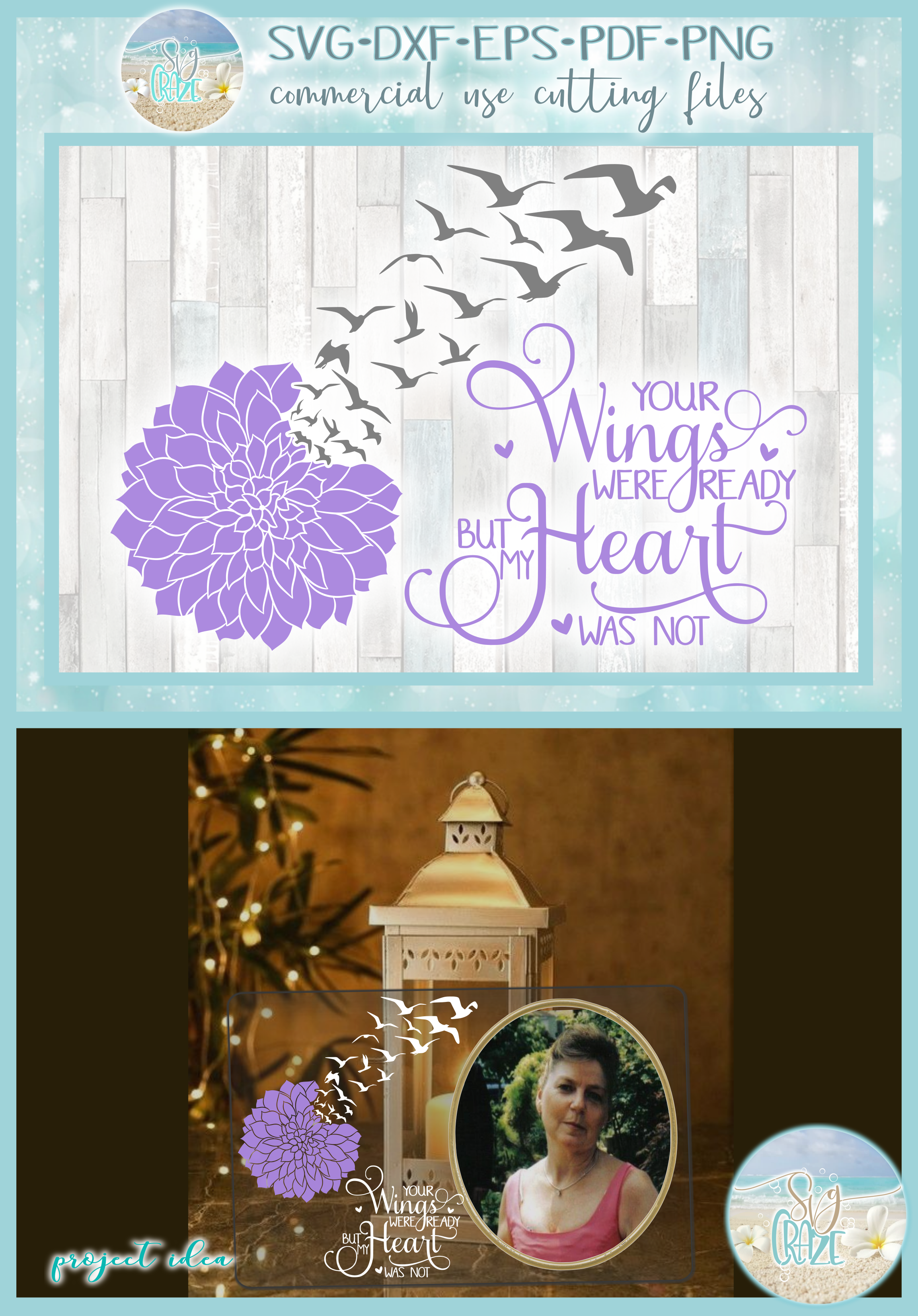 Your Wings Were Ready But My Heart Was Not with Dahlia SVG example image 4