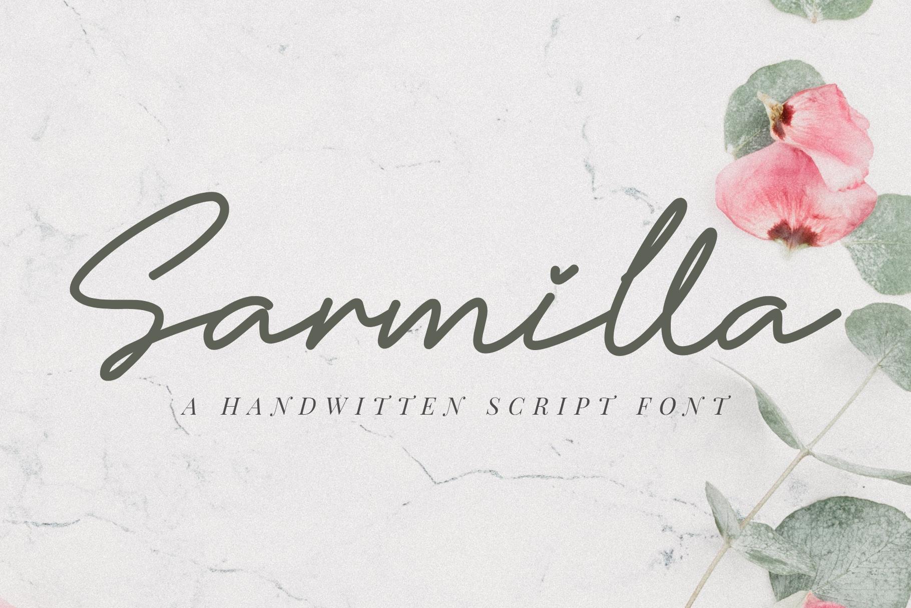 Sarmilla Font example image 1