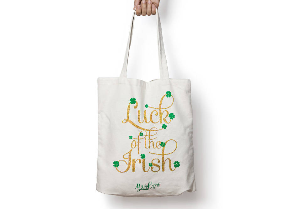 Luck of the Irish Poster to Print Inspirational Quote Golden + SVG files example image 2