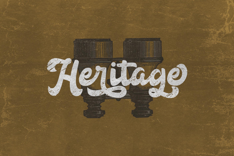 Anggada - Vintage Script Font example image 3