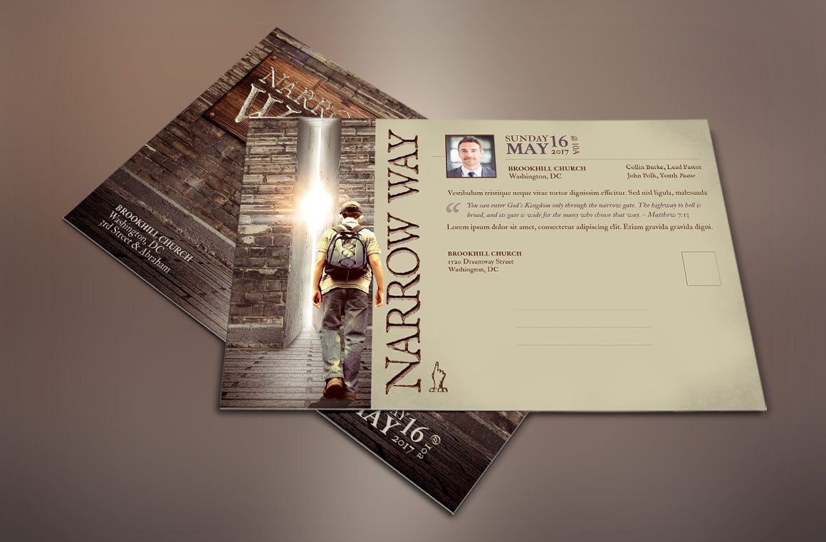 Narrow Way Flyer Poster Template example image 2