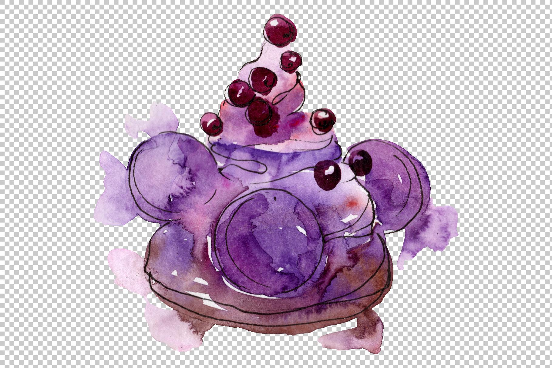 Dessert Brown Watercolor png example image 2