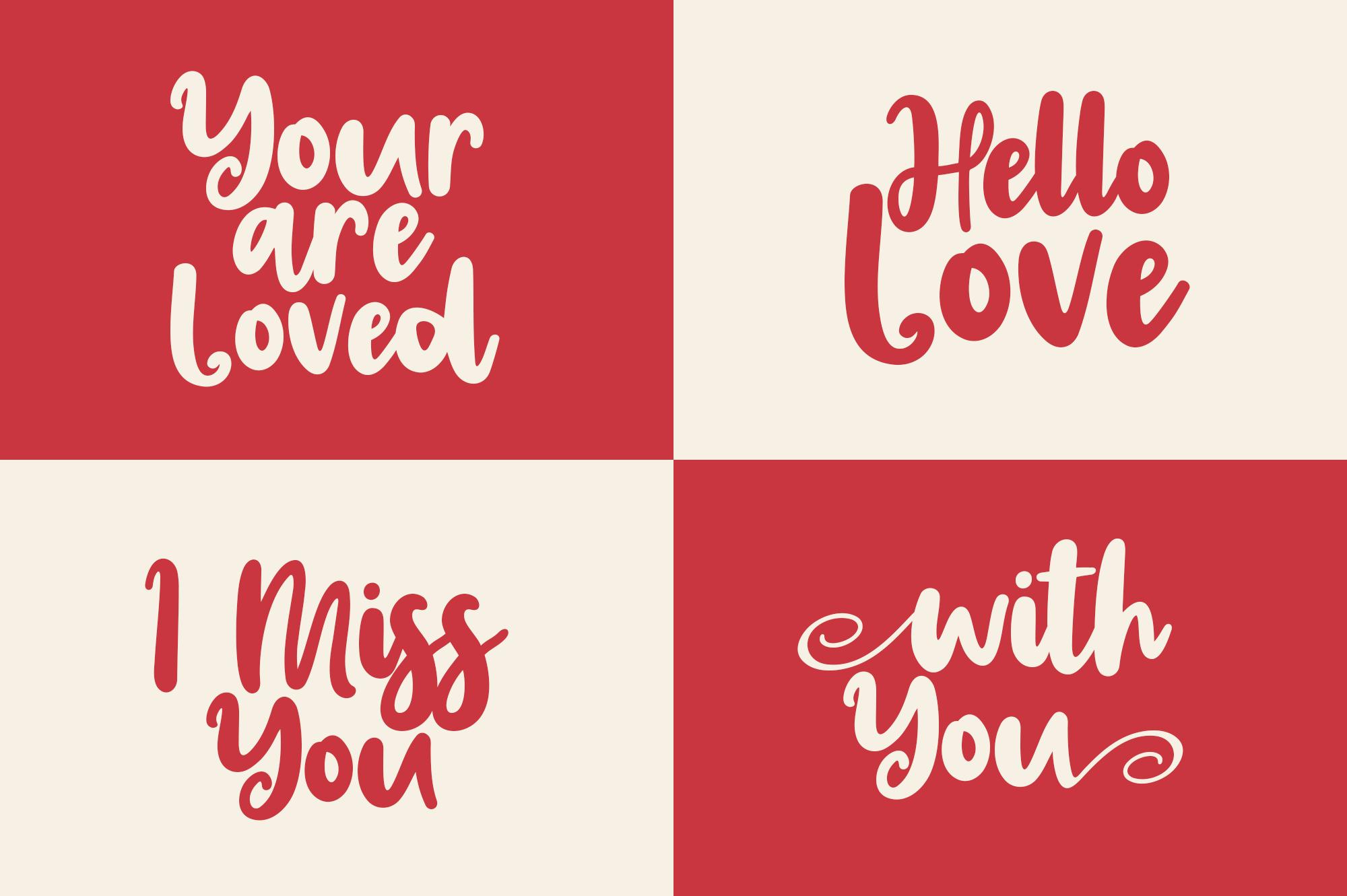 Valentins Plus Bonus 2 Font example image 6