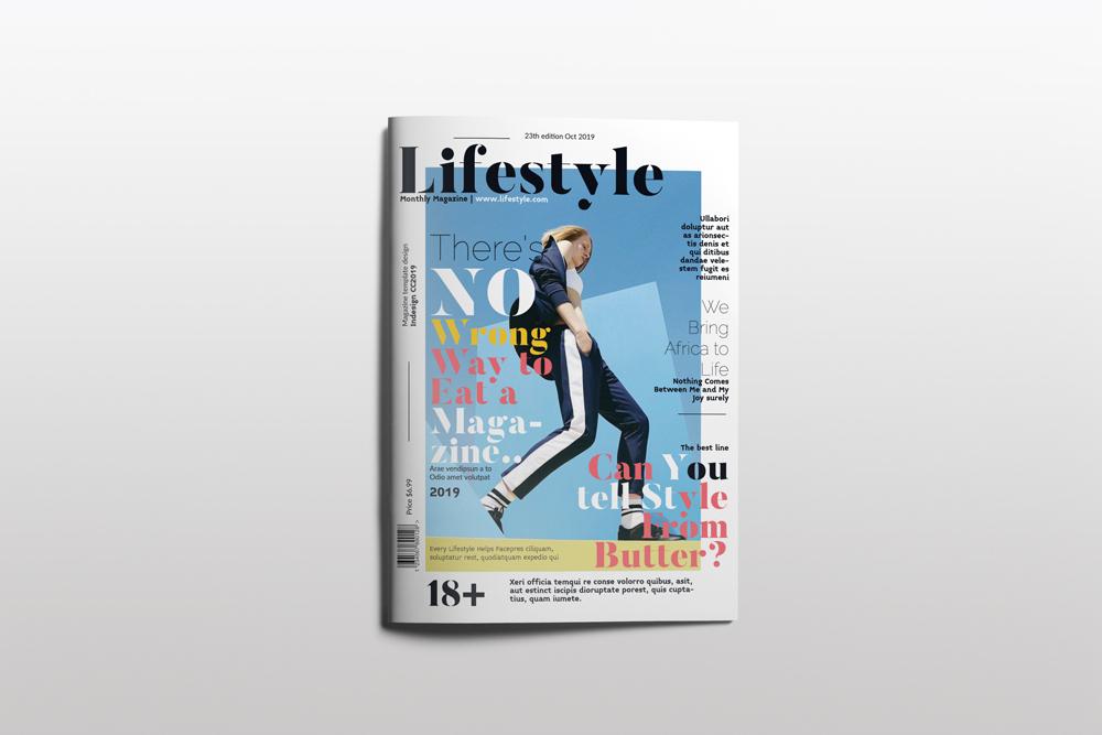 Fashion Magazine Layout Template example image 1