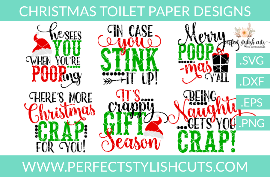 Christmas SVG - Christmas Toilet Paper SVG Bundle example image 1