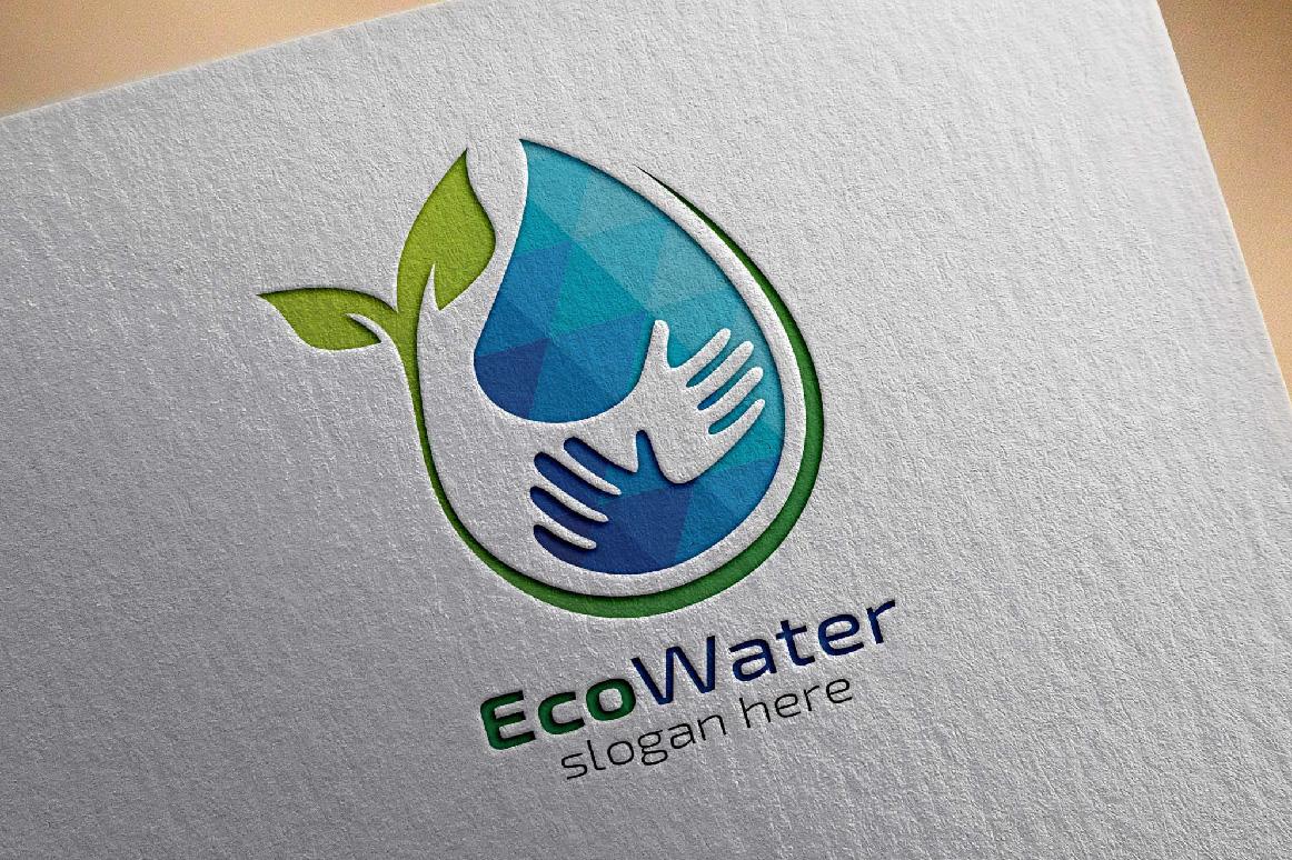 Eco Blue Water Drop Logo example image 4