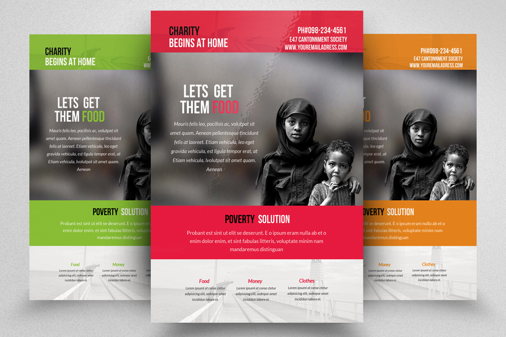 6 Charity & Donation Flyers Bundle example image 4